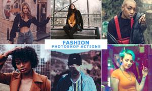 25款中文版时尚人像艺术效果PS动作