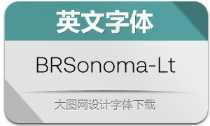 BRSonoma-Light(英文字体)