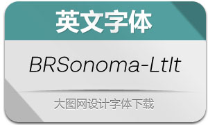 BRSonoma-LightItalic(英文字体)