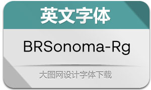 BRSonoma-Regular(英文字体)