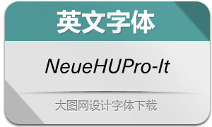 NeueHaasUnicaPro-It(英文字体)