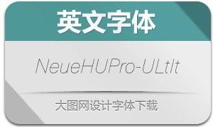 NeueHaasUnicaPro-ULtIt(英文字体)