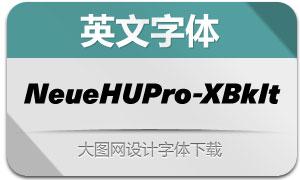 NeueHaasUnicaPro-XBkIt(英文字體)