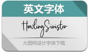 HowlingSinister(英文字體)