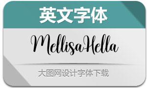 MellisaHella(英文字體)