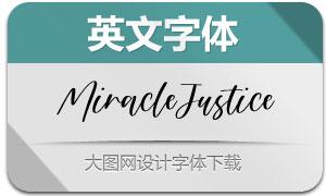 MiracleJustice(英文字體)