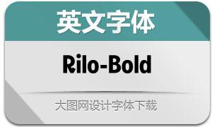 Rilo-Bold(英文字体)