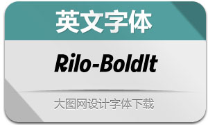 Rilo-BoldItalic(英文字体)