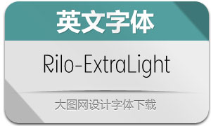 Rilo-ExtraLight(英文字体)