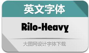 Rilo-Heavy(英文字体)