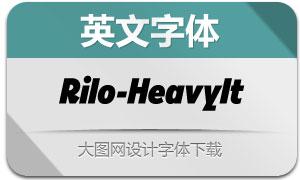 Rilo-HeavyItalic(英文字体)