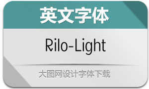 Rilo-Light(英文字体)