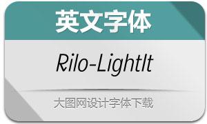 Rilo-LightItalic(英文字体)