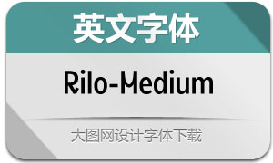 Rilo-Medium(英文字体)