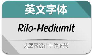 Rilo-MediumItalic(英文字体)