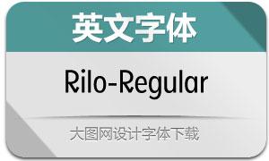 Rilo-Regular(英文字体)