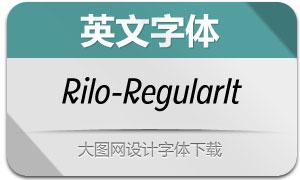 Rilo-RegularItalic(英文字体)