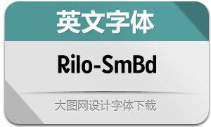 Rilo-SemiBold(英文字体)