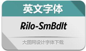 Rilo-SemiBoldItalic(英文字体)