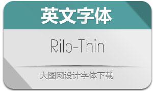 Rilo-Thin(英文字体)