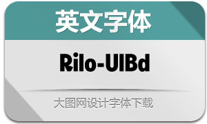 Rilo-UltraBold(英文字体)