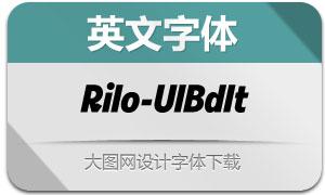 Rilo-UltraBoldItalic(с╒ндвжСw)