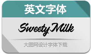 SweetyMilk(英文字体)