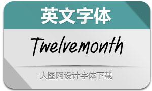 Twelvemonth(英文字体)