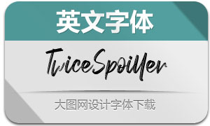 TwiceSpoiller(英文字体)
