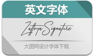 ZattoyaSignature(英文字体)