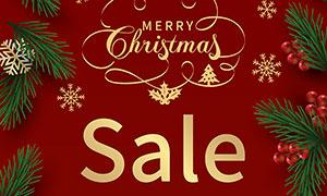 简约风格圣诞节海报设计矢量素材