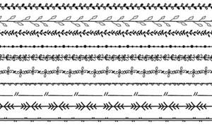 黑白多样式装饰分隔线主题矢量素材