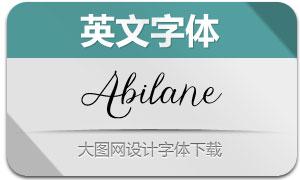 Abilane(英文字体)