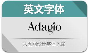 Adagio(英文字体)