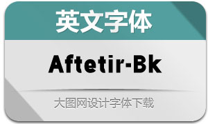 Aftetir-Black(英文字体)