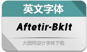 Aftetir-BlackItalic(英文字体)