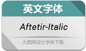 Aftetir-Italic(英文字体)