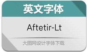 Aftetir-Light(英文字体)