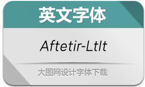 Aftetir-LightItalic(英文字体)