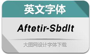 Aftetir-SemiBoldItalic(英文字体)