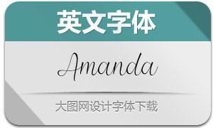 Amanda(英文字体)