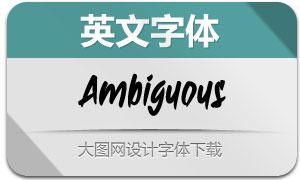 Ambiguous(英文字体)