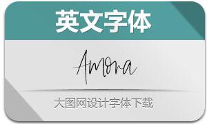 Amora(英文字体)