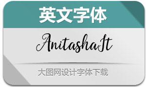 AnitashaItalicRegular(英文字体)