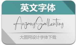 AnjanySallentiny(英文字体)