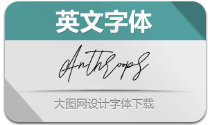 Anthroops(英文字体)