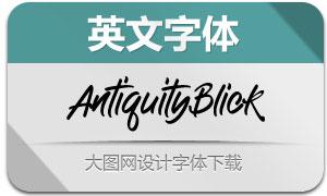 AntiquityBlick(英文字体)