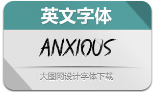 Anxious(英文字体)