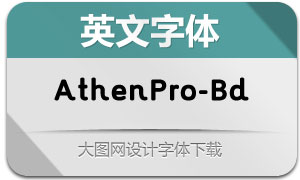 AthenPro-Bold(英文字体)