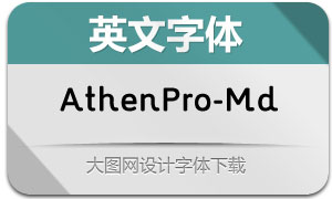 AthenPro-Medium(英文字体)